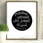 Hand lettered bible verse printables