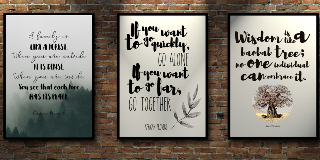 African proverb printable