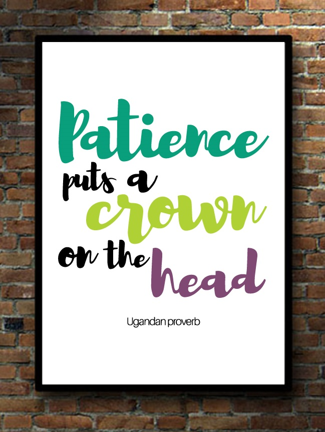 Patience puts a crown mu