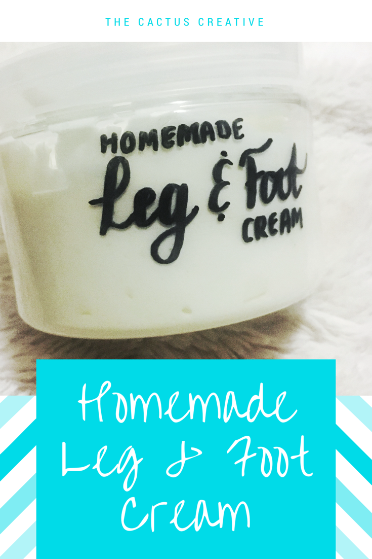 Homemade leg and foot cream