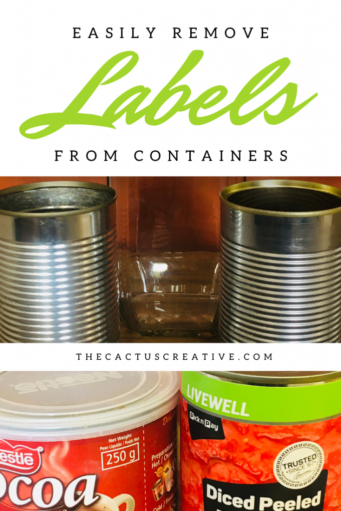 Remove labels from containers