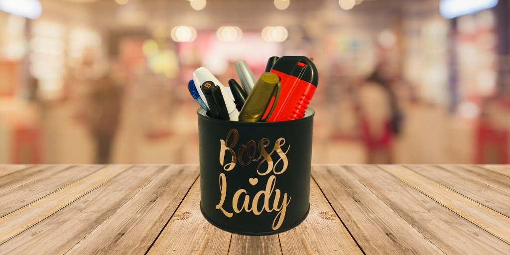 Boss lady stationery holder
